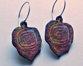 RESERVED FOR SHARON - Labyrinth Earrings Polymer Clay