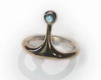 The Bubblegum Ring - Blue Topaz