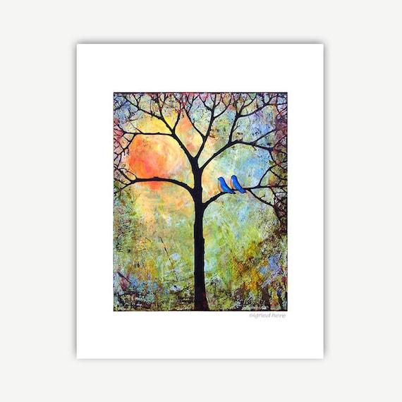 Sunshine Tree 11X14 Matted Print