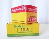 Vintage Kodak Film - unused - TRI-X Safety TX 120 or Kodacrhome 25 KM 135-20 - Choice
