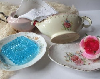 Shabby Vintage Instant Tea Party Collection of Six