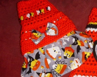 HALLOWEEN DOG Skirt-ter Choose -Costumed Candy Corns Or Glitter OWLS -2 to 20 lb dogs- made to order