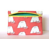 Cat Love Zipper Pouch - Limited Edition Jamie Illustration Print