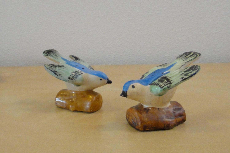 Vintage Blue Bird Salt And Pepper Shakers Made In Japan