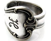 Spoon Ring Size 3 To 15 Signature With H Monogram from 1950