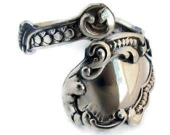 Sterling Silver Spoon Ring Size 3 to 8 Marie Antoinette Small