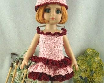 Crochet dress for 10 inch Tonner Patsy doll