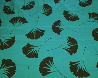 vintage 80s novelty fabric featuring great shell or fan print, 1 yard, 2 available priced PER YARD