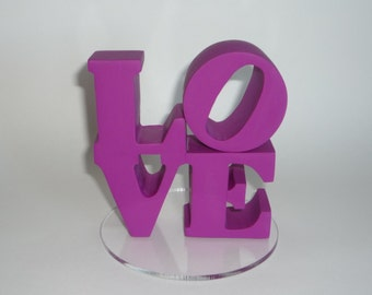 Violet Purple love cake topper ready to ship