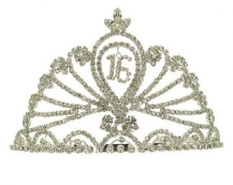 SWEET 16 TIARA-- Perfect for the birthday party, quincinera, photo shoot, wedding, princess hair accessories