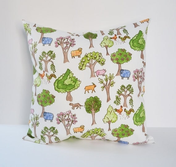 Animal Nursery Pillows : Nursery Pillow Farm Animals Pillow Kids Room Decor Pillow
