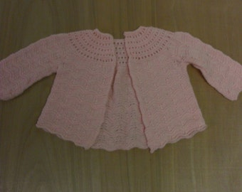 Vintage crochet Peach Baby Sweater