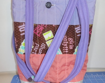 Tween Sayings Quilted Tote Bag
