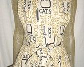 Vintage 60s Mod Wrap Apron Dress Handmade Feedsack Midi Prairie