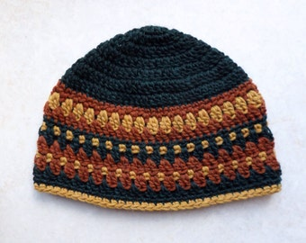 Galilee hat large adult size- green and gold