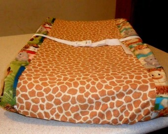 Jungle Babies Changing Pad Cover Adorable  LAST ONE