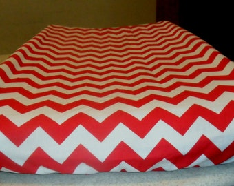 Red and White Chevron Changing Pad Cover CHOICE OF COLOR
