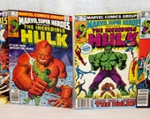 Lot of 4 The Incredible Hulk Marvel Super Heroes 1980s