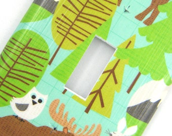 Light Switch Cover Switchplate -- Forest Animals