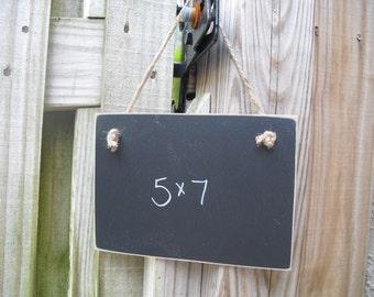Chalkboard  - 5x7 Hanging Frameless Blackboard -  Item H1572