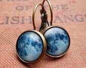 Blue Moon Leverback Earrings (ER10)