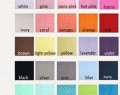 Minky Fabric, Cuddle Dimple Dot Minky- Any Color- 1/2 yard,
