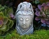 Kuan Yin Bust - Miniature Concrete Statue of Goddess Quan Yin, Kwan Yin, Guanyin