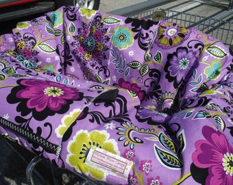 Shopping Cart cover for  girl.....Lavender/Purple Flowers Shopping cart cover