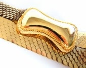 Vintage 1980's Gold Serpent Stretch Belt, Modern Sizes 6 to 14, S M L