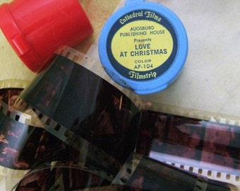 Vintage Color Educational Filmstrip in a Plastic Flip-Top Case