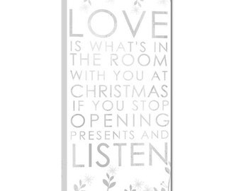Christmas Quote Art Bus Roll Art Silent 10x20 inch STOCK Typography Canvas Geezees
