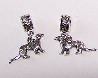 Silver 3D FERRET Bead Charm for Trollbead,  European and All Name Brand Add a Bead Bracelets