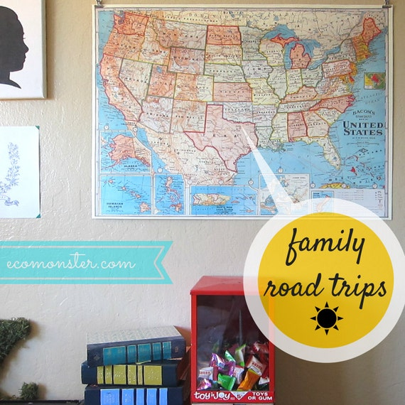 Mark your family road trips USA Travel Map Kit by EcoMonster – Mark Your Travels Map