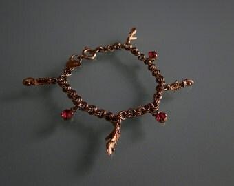 Vintage Child's Signed Judy Lee Cinderella Charm Bracelet