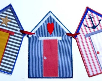 BEACH HUT BUNTING Machine embroidery Designs  sc 1 st  Etsy & Striped beach tent | Etsy