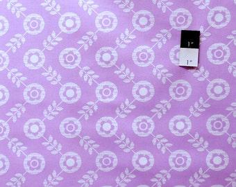 Erin McMorris PWEM040 LaDeeDa Flora Dots Violet Cotton Fabric 1 Yard