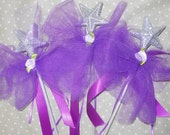 FURTHER REDUCTION- Purple Stocking Stuffer Wands- Set of 3