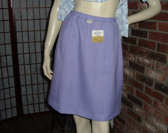 60s 70s Brentshire Skirt S Lilac NWT A Line New With Tags Vintage