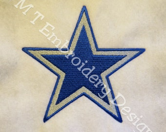 Layered Star Embroidery Design - 2 sizes - New Formats Added