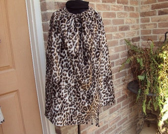 Leopard Cape with hood--caveman, Conan, Halloween costume--only one available