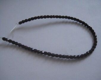 7 Inch Strand of 3mm Chocolate Fire Polished Czech Beads