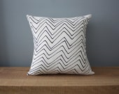 "18"" Organic Cotton Pillow - CHEVRON - housewares"