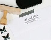 Custom Return Address Stamp - Wood Mounted or Self Inking