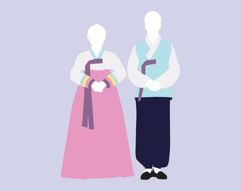 Custom Couple or Wedding Silhouette Print