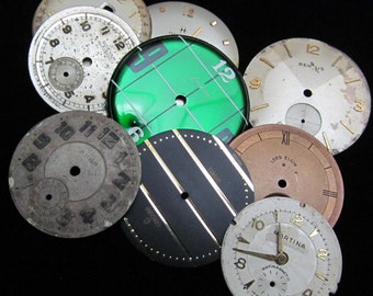 Vintage Antique Watch Dials Steampunk  Faces Parts DG 82