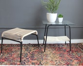 r e s e r v e d Ames Aire Minimal String & Metal Side Table
