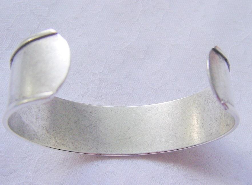 Cuff Channel Bracelet Blank 75 Inch Silver Plated By