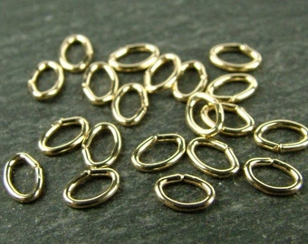 10pcs Gold Filled Oval Open Jump Ring 4.5mm ~ 22ga (CG5765)