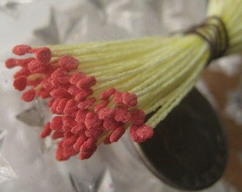 Millinery Flower Stamen Germany Flower Peps 300 Stems Yellow And Red  G54