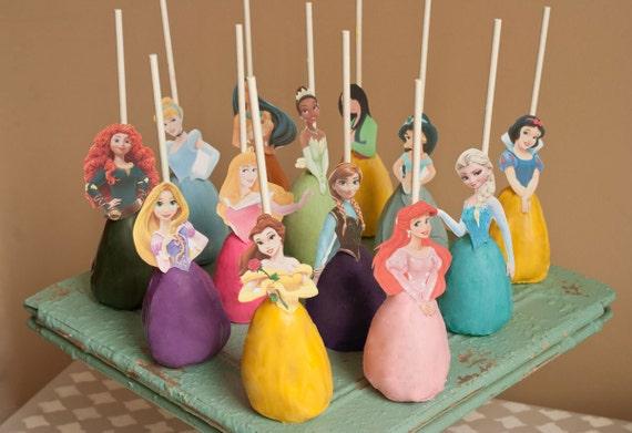 Disney Princess Cake Pop Topper Printable Digital By